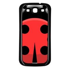 Kawaii Ladybug Samsung Galaxy S3 Back Case (Black)