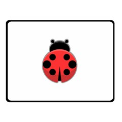 Kawaii Ladybug Double Sided Fleece Blanket (Small)