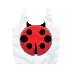 Kawaii Ladybug Full Print Recycle Bags (M)