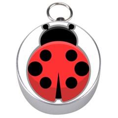 Kawaii Ladybug Silver Compasses