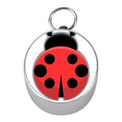Kawaii Ladybug Mini Silver Compasses