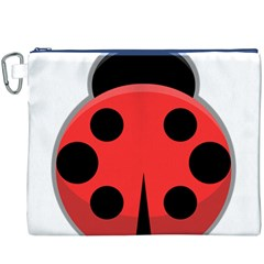 Kawaii Ladybug Canvas Cosmetic Bag (XXXL)