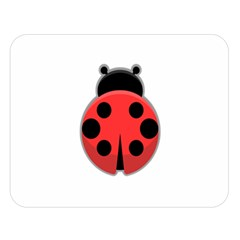 Kawaii Ladybug Double Sided Flano Blanket (large)