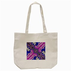 Beautiful Blue Black Abstract  Tote Bag (Cream)