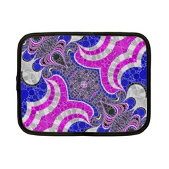 Beautiful Blue Black Abstract  Netbook Case (Small)
