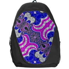 Beautiful Blue Black Abstract  Backpack Bag