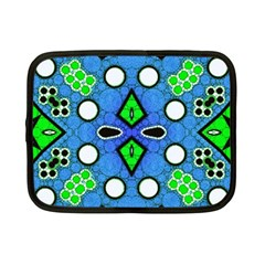 Florescent Blue Green Abstract  Netbook Case (Small)