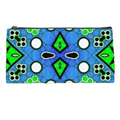 Florescent Blue Green Abstract  Pencil Cases