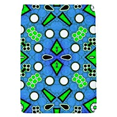 Florescent Blue Green Abstract  Flap Covers (S)