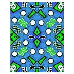 Florescent Blue Green Abstract  Drawstring Bag (Large)