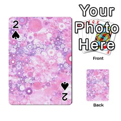 Lovely Allover Ring Shapes Flowers Pink Playing Cards 54 Designs