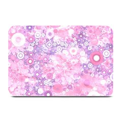 Lovely Allover Ring Shapes Flowers Pink Plate Mats