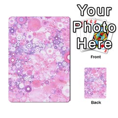 Lovely Allover Ring Shapes Flowers Pink Multi Purpose Cards (rectangle)