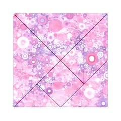 Lovely Allover Ring Shapes Flowers Pink Acrylic Tangram Puzzle (6  x 6 )