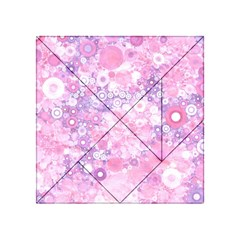 Lovely Allover Ring Shapes Flowers Pink Acrylic Tangram Puzzle (4  x 4 )