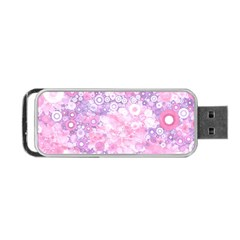 Lovely Allover Ring Shapes Flowers Pink Portable USB Flash (One Side)