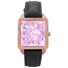 Lovely Allover Ring Shapes Flowers Pink Rose Gold Watches