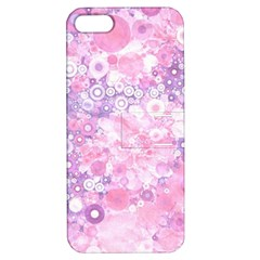 Lovely Allover Ring Shapes Flowers Pink Apple iPhone 5 Hardshell Case with Stand