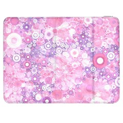 Lovely Allover Ring Shapes Flowers Pink Samsung Galaxy Tab 7  P1000 Flip Case