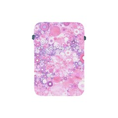 Lovely Allover Ring Shapes Flowers Pink Apple iPad Mini Protective Soft Cases