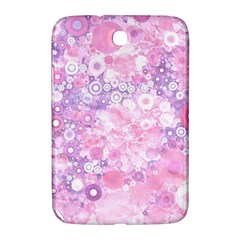 Lovely Allover Ring Shapes Flowers Pink Samsung Galaxy Note 8.0 N5100 Hardshell Case