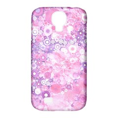 Lovely Allover Ring Shapes Flowers Pink Samsung Galaxy S4 Classic Hardshell Case (PC+Silicone)