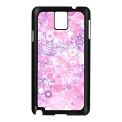 Lovely Allover Ring Shapes Flowers Pink Samsung Galaxy Note 3 N9005 Case (Black)
