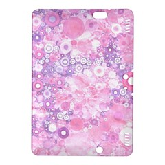 Lovely Allover Ring Shapes Flowers Pink Kindle Fire HDX 8.9  Hardshell Case