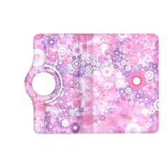 Lovely Allover Ring Shapes Flowers Pink Kindle Fire Hd (2013) Flip 360 Case