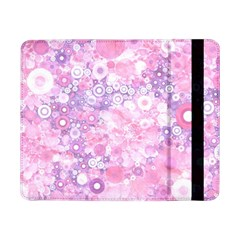 Lovely Allover Ring Shapes Flowers Pink Samsung Galaxy Tab Pro 8.4  Flip Case