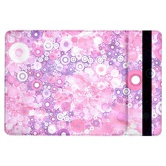 Lovely Allover Ring Shapes Flowers Pink iPad Air Flip