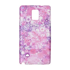 Lovely Allover Ring Shapes Flowers Pink Samsung Galaxy Note 4 Hardshell Case