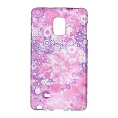 Lovely Allover Ring Shapes Flowers Pink Galaxy Note Edge