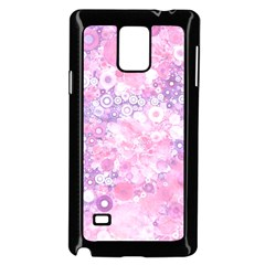 Lovely Allover Ring Shapes Flowers Pink Samsung Galaxy Note 4 Case (black)
