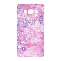 Lovely Allover Ring Shapes Flowers Pink Samsung Galaxy A5 Hardshell Case