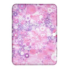 Lovely Allover Ring Shapes Flowers Pink Samsung Galaxy Tab 4 (10.1 ) Hardshell Case