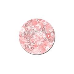 Lovely Allover Ring Shapes Flowers Golf Ball Marker (10 pack)