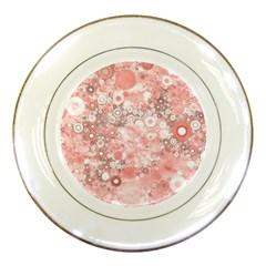 Lovely Allover Ring Shapes Flowers Porcelain Plates