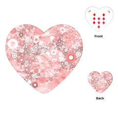 Lovely Allover Ring Shapes Flowers Playing Cards (Heart)