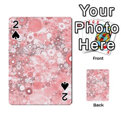 Lovely Allover Ring Shapes Flowers Playing Cards 54 Designs