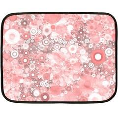 Lovely Allover Ring Shapes Flowers Fleece Blanket (mini)