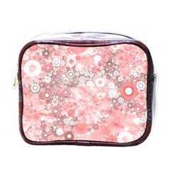Lovely Allover Ring Shapes Flowers Mini Toiletries Bags
