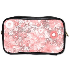 Lovely Allover Ring Shapes Flowers Toiletries Bags