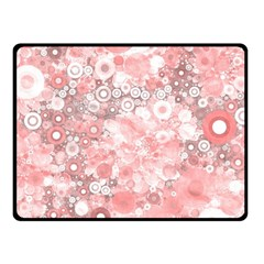 Lovely Allover Ring Shapes Flowers Fleece Blanket (Small)