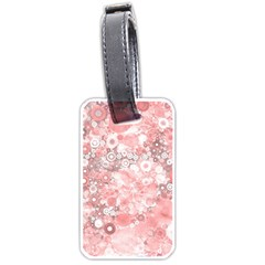 Lovely Allover Ring Shapes Flowers Luggage Tags (Two Sides)