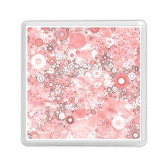 Lovely Allover Ring Shapes Flowers Memory Card Reader (Square)
