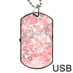 Lovely Allover Ring Shapes Flowers Dog Tag USB Flash (One Side)