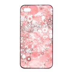 Lovely Allover Ring Shapes Flowers Apple iPhone 4/4s Seamless Case (Black)