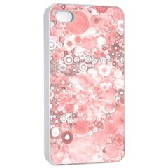 Lovely Allover Ring Shapes Flowers Apple Iphone 4/4s Seamless Case (white)