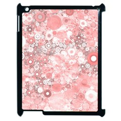 Lovely Allover Ring Shapes Flowers Apple iPad 2 Case (Black)